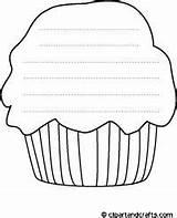 Printable Coloring Muffin Shapes Cupcake Printables Template Colouring Crafts Templates Result Google Writing Shape Paper Lines Fathers sketch template