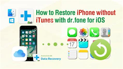 add to iphone without itunes how to restore iphone without itunes with dr fone toolkit 18279