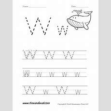 Letter W Worksheet  Tim's Printables