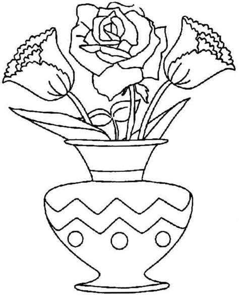 flower bouquet coloring pages coloring home