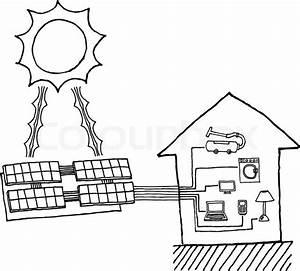 solar power graphic cheap energy stock vector With solar power diagram