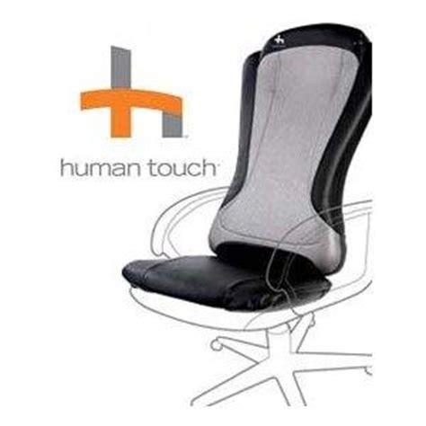 massaging chair pad with heat human touch ht 1470 back pad roller