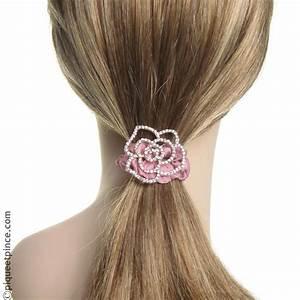 Tissu Rose Poudré : lastique cheveux bijou satin rose poudr et fleur strass ~ Teatrodelosmanantiales.com Idées de Décoration