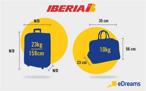 iberias hand luggage  checked baggage allowances