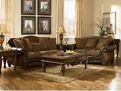 Antique Living Room Set by Ashley Furniture Fresco 63100 DuraBlend Antique Living Room Set Furniture PM