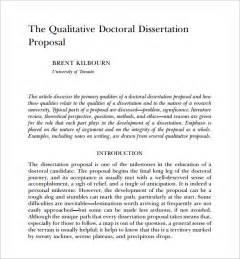 Qualitative Dissertation Proposal Example