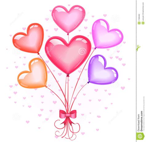 Heart Shaped Balloons Clipart Clipart Suggest