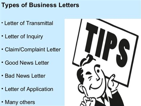 business letters   types