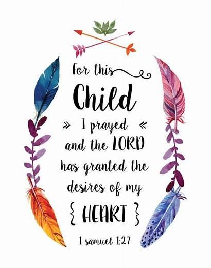 Bible Verse Samuel Quotes Birth Prayer Child