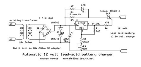 Automatic Lead Acid Battery Charger Andrew Morris