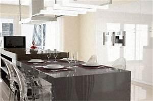 Jambage Plan De Travail : cuisine plan de travail en lot de cuisine moderne fonc en quartz ~ Melissatoandfro.com Idées de Décoration