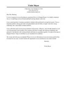server cover letter exles hotel hospitality cover letter exles livecareer