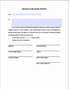 request letter for credit report free fillable pdf forms With letter of credit report