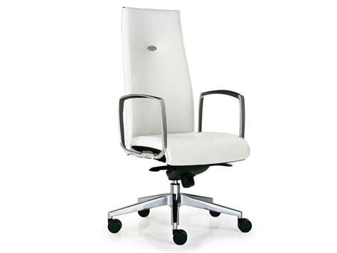 fauteuil de direction en cuir largo ergonomique