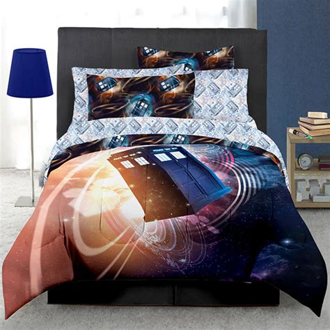 dr who gallifrey bed set queen doctor who floating tardis bed in a bag