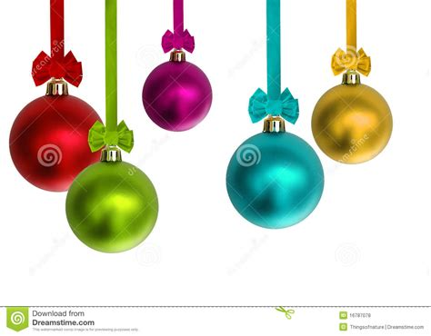 Colorful Christmas Ornaments Stock Photo  Image Of Space