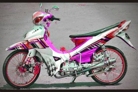 Modif Jupiter Z Orange by Modifikasi Jupiter Z1 Terbaru Racing Drag Velg Jari Jari