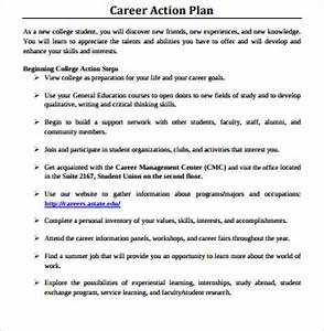 8 sample career action plans sample templates With how to write a career plan template