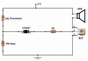Simple Fire Alarm Circuit Using Thermistor  Germanium