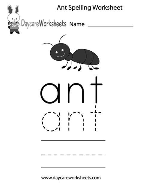 free preschool ant spelling worksheet 811 | ant spelling worksheet printable