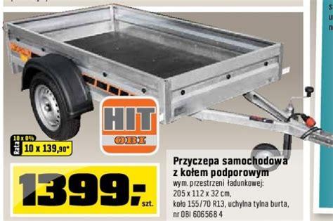 Przyczepa Samochodowa 32x112x205cm Cena 1399,00