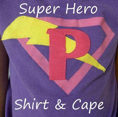 super hero shirt  cape easy kids gift  images