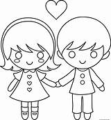 Coloring Couple Pages Cartoon Valentine Printable Cartoons Para Drawings Couples Valentines Freekidscoloringpage Dia Clipart Adults Drawing Books Stick Boy Animated sketch template