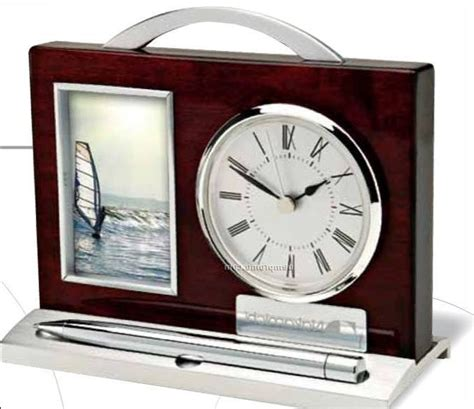 bulova desk clockframe desk clock with photo frame