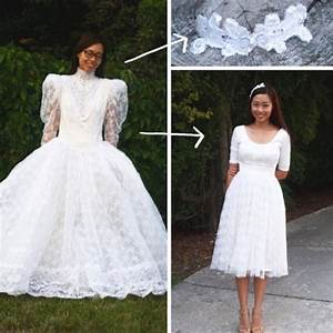 mom buys poofy wedding gown at thrift store then With thrift store wedding dress