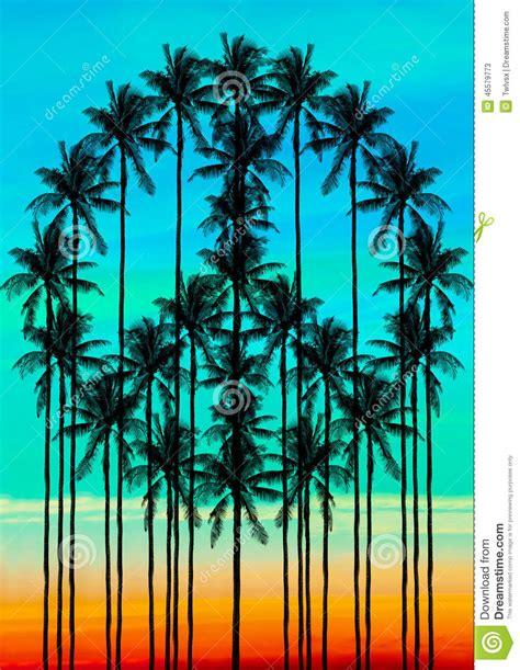 stock  peace palm trees image