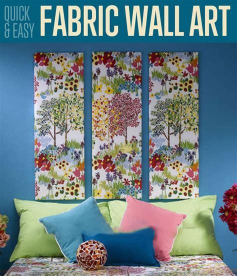 quick easy fabric wall art home decor ideas diyreadycom
