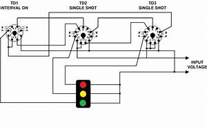 Using Time Delay Relays To Cycle A Traffic Signal