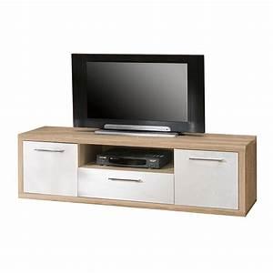 Tv Board Weiß Eiche : tv lowboard fresno ii sonoma eiche dekor hochglanz wei ~ Bigdaddyawards.com Haus und Dekorationen