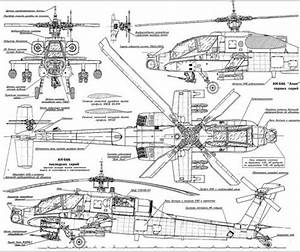 Helicopter Line Drawings - Vehicle Templates