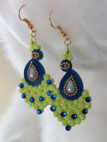 handmade paper quilled jhumkas quilled by