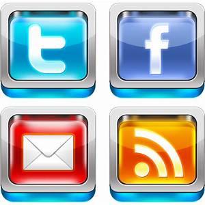 Shiny 3D social media icons PSD - GraphicsFuel