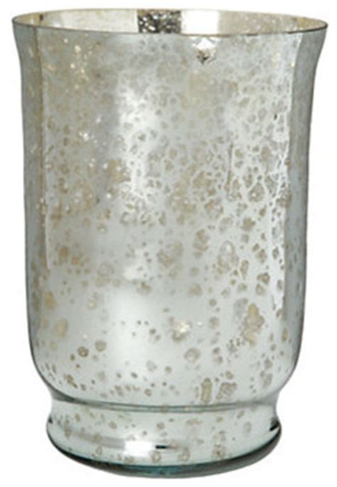 mercury glass hurricane vase mercury glass hurricane modern candleholders by terrain