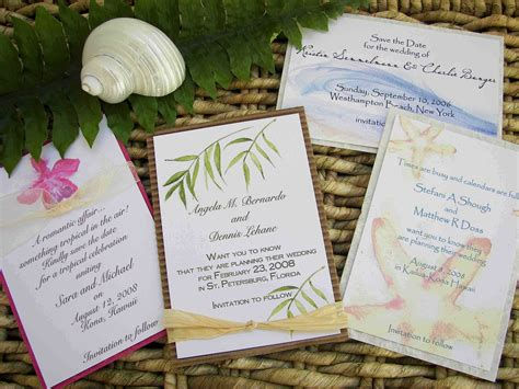 beach themed wedding invitations do it yourself wedding