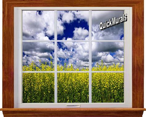 Country Fields Window 1piece Peel & Stick Wall Mural