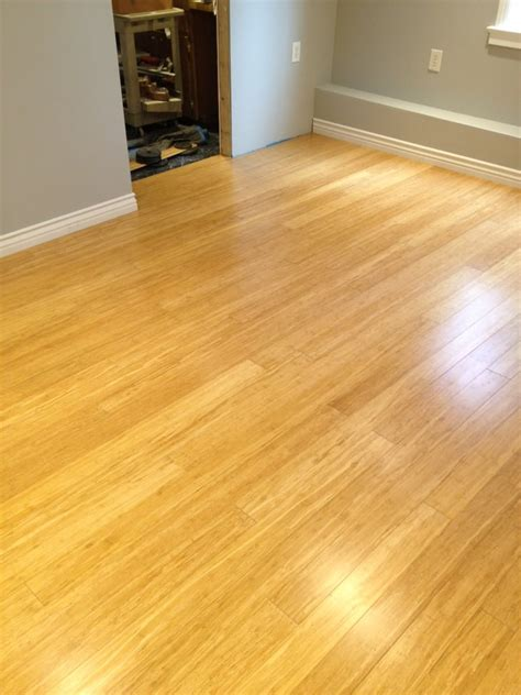 bamboo hardwood floors 11 x18 w cork underlayment insulation base boards done in a