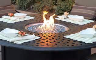 patio furniture chat cast aluminum propane pit