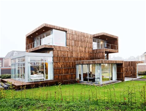 contemporary materials in architecture modern dutch house built from salvaged billboards and umbrellas inhabitat green design