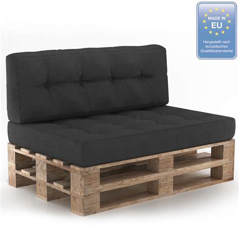 siege en palette coussin palette sofa oreiller intérieur anthracite
