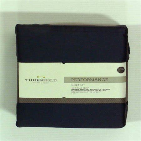threshold performance sheet set queen metallic blue