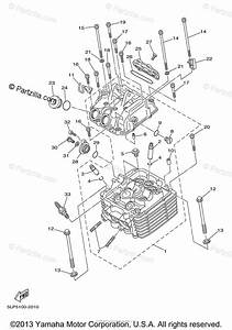 Yamaha Atv 2002 Oem Parts Diagram For Cylinder Head