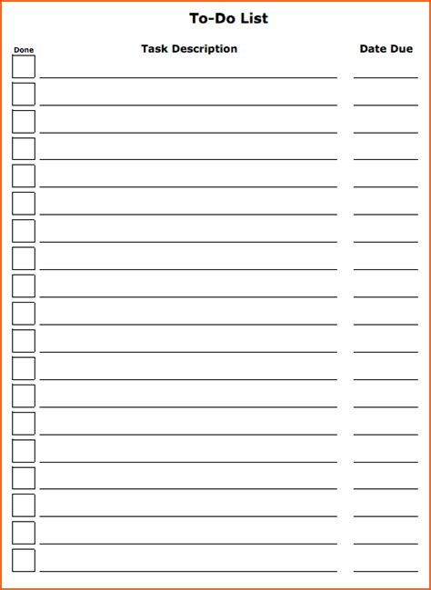 to do checklist template 4 to do list template bookletemplate org