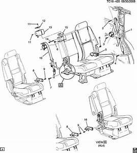 Gmc Yukon Belt  Seat Belt  Belt  R  Seat Ctr Shldr Retr Si  Ebony