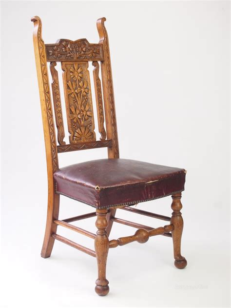 vintage chairs for antique carved oak high back chair chair antiques atlas 6784