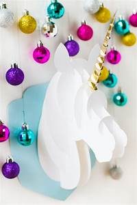 Diy 3d Papercraft Unicorn Head Bespoke Bride Wedding Blog
