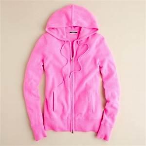 Jew Cashmere Zip front Hoo in Pink neon azalea